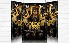 Golden Boon – Premium Flyer Template   Facebook Cover