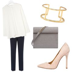 OUTFITS THAT GET THE CÉLINE LOOK RIGHT Minimal For An Interview The trick to making an outfit look way more expensive than it is: Keep everything simple. A collarless blouse combined with a tailored trouser is anonymous enough that it makes a Forever 21 cuff and nude heel look luxe. Invest a bit more in a purse and you'll have them fooled at any interview.