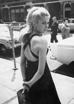 Catherine Deneuve. London's premier of Repulsion just minutes away, 1964.