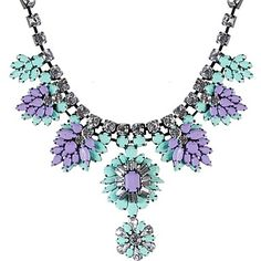 Women's FashionFloral Statement Chunky Resin Alloy Cluster Funky Beads Neckalce - USD $ 31.19