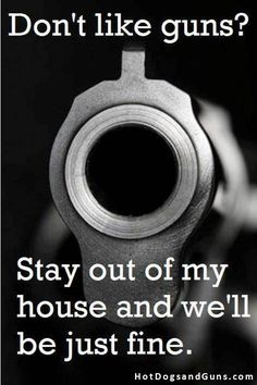 Don't Like Guns?  Stay out of my house and we'll be just fine.