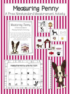 Here's a set of materials for activities in nonstandard measurement. Use this with the book MEASURING PENNY by Loreen Leedy.