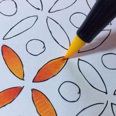Colouring pen amazing trick tutorial Gradient