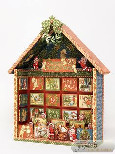 Create an Advent Calendar with By Yumi Muraeda Graphic 45 - Christmas Magic Advent Calendar House, Christmas Calendar, Album Scrapbook, Mixed Media Scrapbooking, Advent Calenders, Christmas Gift Decorations, Nouvel An, Graphic 45, Christmas Inspiration