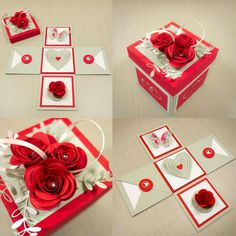 DIY Gifts, Garland, Birthday, Valentines Day, Pottery and Arts And Crafts Box, Diy Crafts For Gifts, Explosion Box, Diy Exploding Box, Scrapbook Box, Scrapbooking, Anniversary Crafts, Gift Box Birthday, 30th Birthday