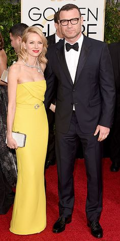 Naomi Watts (w/ hunky Liev) in Gucci - loving the yellow!!