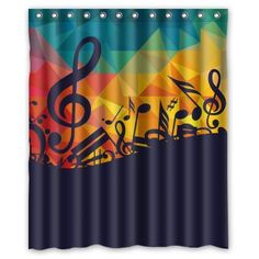 """Personalized Bathroom - Cool Artistic Music Notes Style Shower Curtain / 100% Polyester Waterproof Fabric Curtain / 60""""x72"""" Inches / Shower Rings Included New Music Shower Curtain http://www.amazon.com/dp/B00P8IU79I/ref=cm_sw_r_pi_dp_.XW6vb1GKB1DX"""