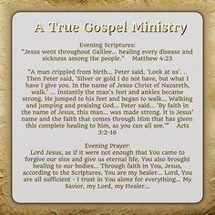 Evening Scripture and Prayer..