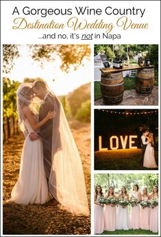 Looking for the best venues for wine country weddings? This is an amazing destination for couples who love wine & beautiful views…and no, it's not in Napa! Wedding Tips, Wedding Details, Destination Wedding Locations, Amazing Destinations, Wine Country, Table Decorations, Inspiration, Beautiful, Marriage Tips