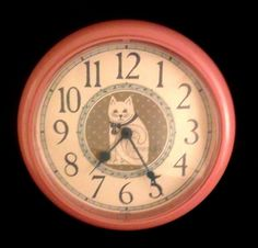 cat clock!