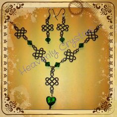 Bronze and Green Celtic set