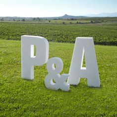 Letras gigantes en porexpan para bodas