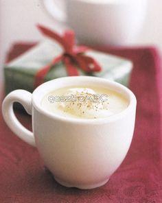 Spicy Eggnog | Receptek | gasztroABC Glass Of Milk, Rum, Spicy, Pudding, Drinks, Tableware, Desserts, Winter, Food