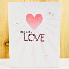 carly tee: sending love + stencils