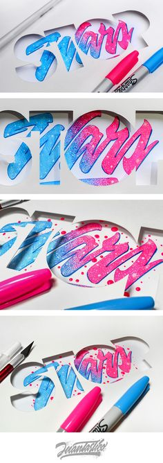 Typography Illustrations Vol.6 #Juantastico