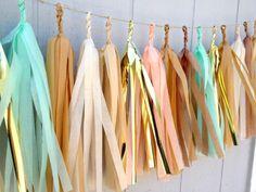 Desert Flower Tissue Paper Tassel Garland  - Party - Wedding - Baby Shower - Nursery