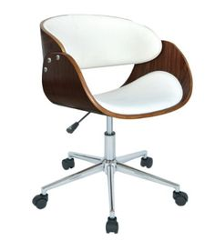 Curators Computer Chair White Leather