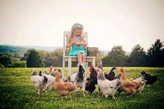 Chickens in the garden, Flea Market style Lindsay Marshall's adorable girl