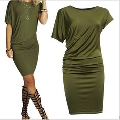 Women's Fashion Short Sleeve Casual Dress