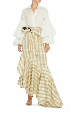 M'O Exclusive San Isidoro Puff Sleeve Top by Johanna Ortiz Fashion Outfits, Womens Fashion, Fashion Trends, Asymmetrical Skirt, Look Chic, Mode Style, Dress Up, Street Style, Style Inspiration