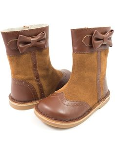 Livie and Luca Shoes - Whitney Boot in Cognac Leather