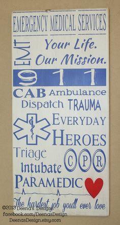 EMS/Paramedic Subway Wall Art Paramedic Decor by DeenasDesign, $60.00