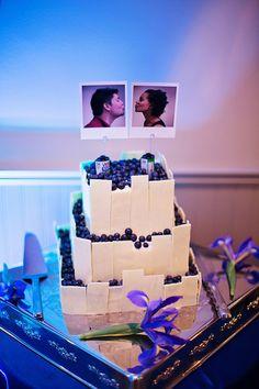 Polaroid cake toppers