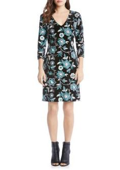 Karen Kane Women's Embroidered Velvet Dress - Multi - Xs