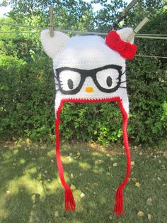 hello kitty crochet hat pattern free | Isn't she cute?!?! I really LOVE how this turned out!
