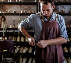 A profile on leather craftsman and shoemaker Jess Cameron-Wootten on The Design Files today. He is rather tasty.