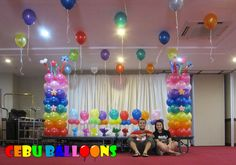 Balloon Decor Balloons in Denver These balloon decorations are Polka Dot Balloons, Purple Balloons, Gold Confetti Balloons, Rainbow Balloons, Big Balloons, Custom Balloons, Colourful Balloons, Thomas Birthday Parties, Birthday Party Venues