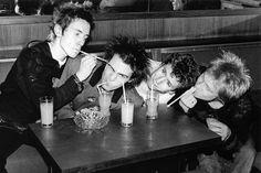 Sex Pistols - Johnny Rotten, Sid Vicious, Steve Jones and Paul Cook.