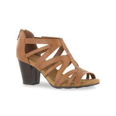 Easy Street Amaze Women's High Heel Sandals, Med Brown
