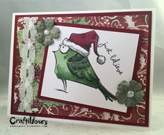 Hi Everyone! Karen N here today sharing a couple Christmas cards! Yes, Christmas in July! I send out lots of cards every year, so I always get a nice and early start. Today's creations were made with Tim Holtz Cat Crazy, Bird Crazy and Crazy Sentiments. These stamps are great ways to create quick and [&hellip