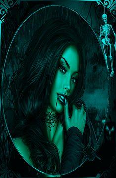 Female Vampire, Vampire Art, Cartoon Girl Images, Girl Cartoon, Beautiful Fantasy Art, Beautiful Gif, Post Apocalyptic City, Halloween Pin Up, Chicano Love