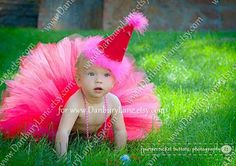 Birthday Tutu outfit for Baby girl Red and Hot Pink by DanburyLane