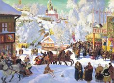 In 1922's 'Carnival', Boris Kustodiev celebrates the traditional Russian way of life, fast disappearing in the face of communism and the suppression of the Russian Orthodox Church. See it in the Royal Academy's 'Revolution: Russian Art 1917-1932' exhibition until 17th April.