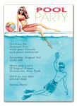 Cool at the Pool Invitation by The Bonnie Marcus Collection. Dive in with this fabulous party invitation, perfect for any summer soiree! Pool Party Favors, Pool Party Kids, Pool Party Invitations, Kid Pool, Beach Party, Wedding Invitations, Invites, Workshop, Moving Announcements