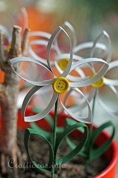 Paper Tube Daisy 5