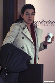 Juliana Margulies ROCKING my, er her fave Burberry Trench Coat...