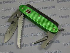 Swiss Bianco Exclusive Firesteel Victorinox Farmer Green Alox Swiss Army Knife