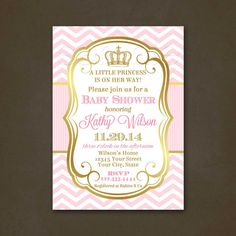 Hey, I found this really awesome Etsy listing at https://www.etsy.com/listing/205828014/princess-baby-shower-invitations