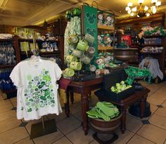 St. Patrick's day merchandise at Disney World