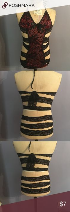 Strapped Back Chemise NWOT 🔥🔥 Red and black lace Chemise. Never worn, one size fits all and when I took it out of the packaging realized there was no way it was going to work needs to go to a home where it can be loved. Great deal, offers always considered and bundle for best savings. Intimates & Sleepwear Chemises & Slips