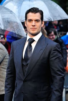 Henry Cavill attends the UK Premiere of 'Man of Steel' at Odeon Leicester Square on June 12, 2013 in London, England.