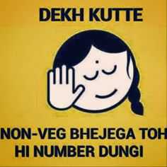 Dekh Bhai Non-veg bhejega toh hi numbe dungi.