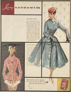 Tumblr - Another great fashion illustration from the 1950's.