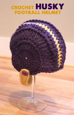 Repeat Crafter Me: Crocheted Football Helmets. cute