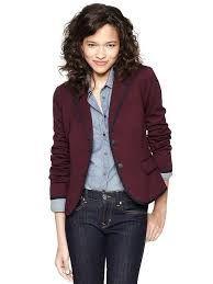Image result for gap burgundy blazer
