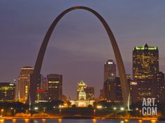 size: Photographic Print: The Gateway Arch and St Louis Skyline Reflect into the Mississippi River, St Louis, Missouri, Usa by Chuck Haney : Entertainment St Louis Skyline, Gateway Arch, Beach Landscape, Mississippi, Missouri, Saints, Scenery, River, Pictures